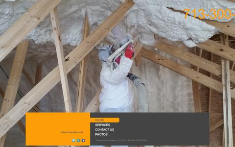 Screenshot of Home Page coolinsulation.com - Home - captured March 4, 2016