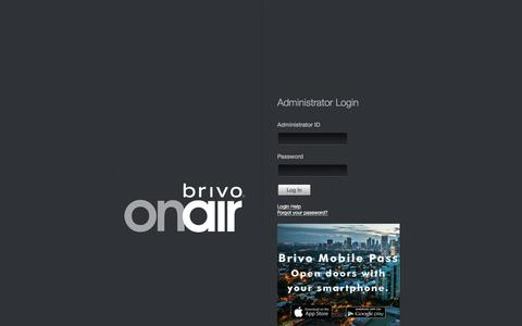 Screenshot of Login Page brivo.com - Brivo OnAir Login - captured Feb. 8, 2016
