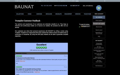 Screenshot of Testimonials Page baunat.com - Trustpilot Customer Feedback - Online boutique - captured June 17, 2015