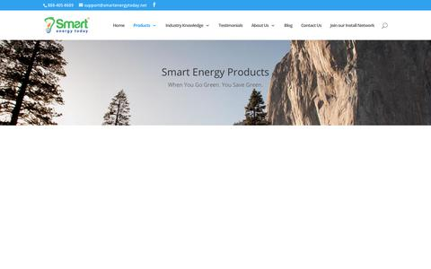 Screenshot of Products Page smartenergytoday.net - Products   Smart Energy Today - captured June 20, 2019