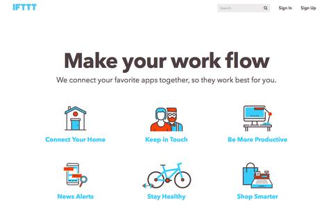 IFTTT - Make Your Work Flow