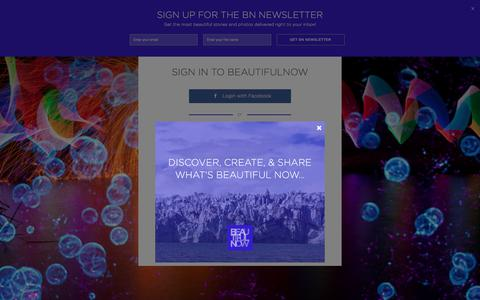 Screenshot of Login Page beautifulnow.is - BeautifulNow   Most Beautiful Arts, Culture, Impact Stories Right Now - captured Aug. 1, 2018
