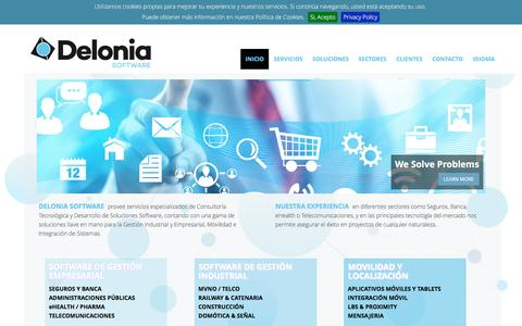 Screenshot of Home Page Privacy Page delonia.com - Delonia Software - IT Solutions & Services - captured Nov. 24, 2016