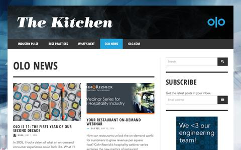 Screenshot of Press Page olo.com - Olo News | The Kitchen | Olo - Part 2 - captured Oct. 18, 2018