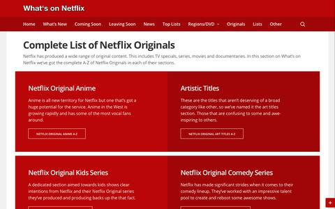 Complete List of Netflix Originals - Whats On Netflix