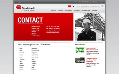 Screenshot of Contact Page Locations Page bestobellvalves.com - Contact - World experts in Cryogenic Valve design and manufacture | Bestobell - captured Oct. 23, 2014