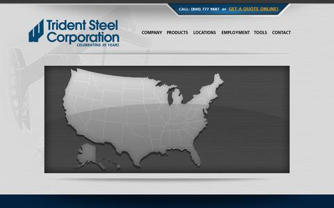 Screenshot of Maps & Directions Page tridentsteel.com - Map  |  Trident Steel Corporation - captured Oct. 7, 2014