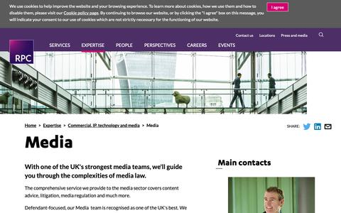Screenshot of Press Page rpc.co.uk - Media | RPC - captured Oct. 20, 2018
