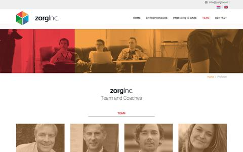 Screenshot of Team Page zorginc.nl - Profielen Archief - ZorgInc - captured Aug. 12, 2016