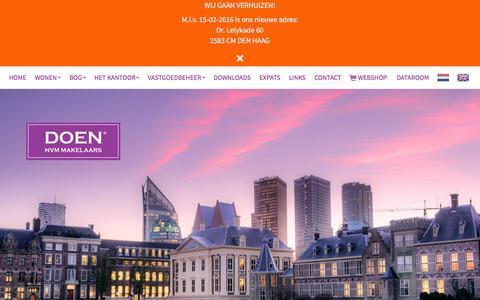 Screenshot of Contact Page doenmakelaars.com - Contact opnemen - captured Feb. 8, 2016