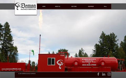 Screenshot of Services Page demonoilfield.com - Demon Oilfield Services | EQUIPMENT - captured Oct. 12, 2017