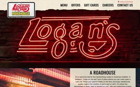 Screenshot of About Page logansroadhouse.com - Steak, Nashville Spirit, Drinks & More - Logan's Roadhouse - captured Dec. 2, 2017