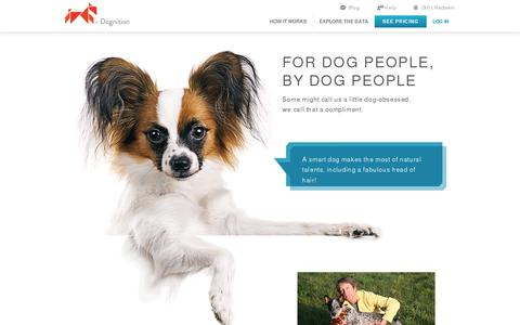 Screenshot of Contact Page dognition.com - Dognition | Who We Are - captured July 19, 2014