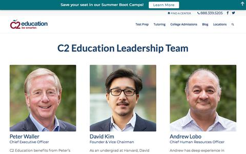 Screenshot of Team Page c2educate.com - Leadership | C2 Education - captured March 14, 2018