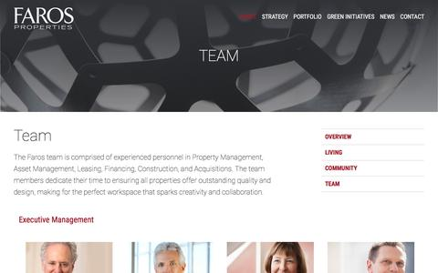 Screenshot of Team Page farosproperties.com - Team - captured Aug. 12, 2018