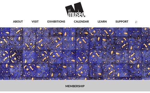 Screenshot of Signup Page elmuseo.org - MEMBERSHIP | El Museo - captured Sept. 27, 2018