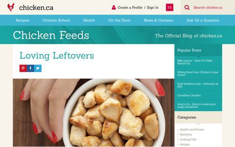 Screenshot of Blog chicken.ca - Blog » Chicken.ca - captured June 29, 2017