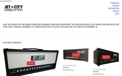 Screenshot of Home Page ampfactory.com - Quality Guitar Amplification at Great Values - captured Nov. 20, 2017