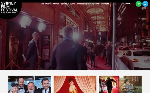 Screenshot of Home Page sff.org.au - Sydney Film Festival - captured Aug. 12, 2015