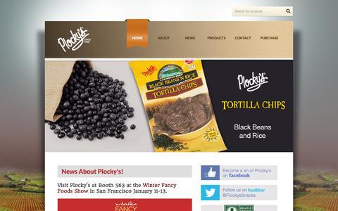 Screenshot of Home Page plockys.com - Plocky's - captured Jan. 23, 2015