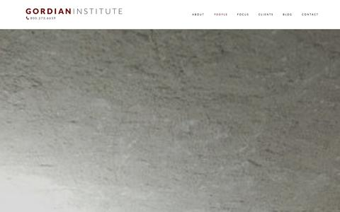 Screenshot of Team Page gordianinstitute.com - People — Gordian Institute - captured Sept. 30, 2014