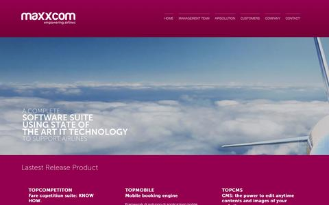 Screenshot of Home Page maxxcom.it - Maxxcom - empowering airlines - captured Oct. 6, 2014