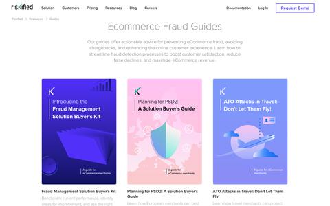Screenshot of Case Studies Page riskified.com - eCommerce Fraud Protection & Prevention Guides | Riskified - captured Feb. 20, 2020