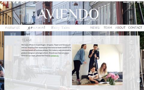 Screenshot of Team Page aviendo.com - Team - Aviendo - captured Oct. 29, 2014