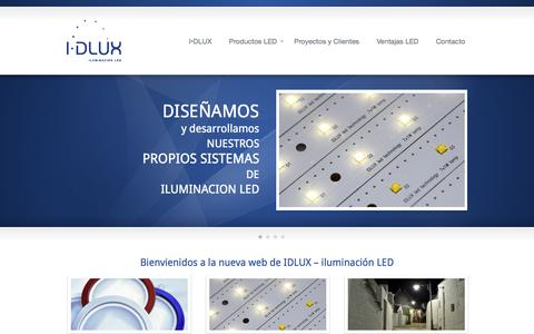 Screenshot of Home Page idlux.es - Iluminación Led | idlux - captured Sept. 12, 2015