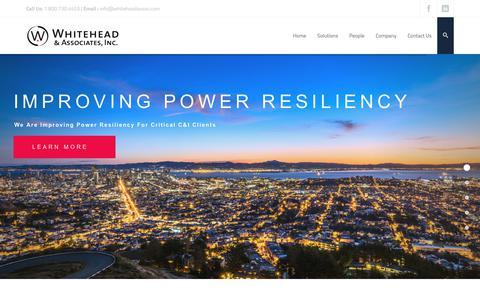 Screenshot of Home Page whiteheadassoc.com - Home - Whitehead & Associates, Inc. - captured Nov. 15, 2018