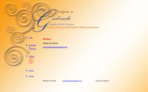 Screenshot of Contact Page designsbygabriele.com - Gabriele website designer specialty increase internet visibility - captured Sept. 30, 2014