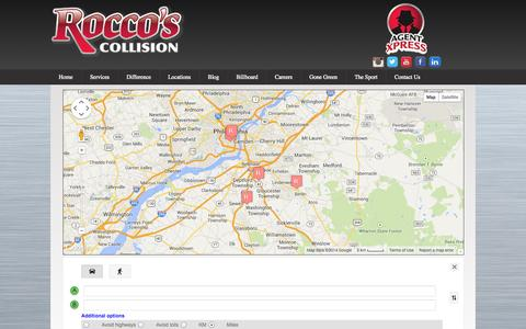 Screenshot of Locations Page roccoscollision.com - Locations | Rocco's Collision - captured Oct. 6, 2014