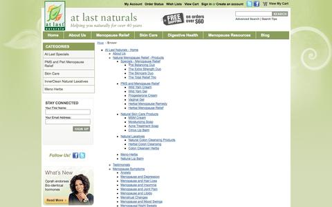 Screenshot of Site Map Page atlastnaturals.com - Sitemap - captured Sept. 30, 2014
