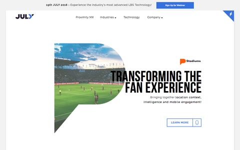 Stadiums Location Based Technology - Digital Engagement for Fans at Stadiums