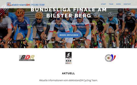 Screenshot of Home Page elektroland24-cycling-team.de - Start - elektroland24 Cycling Team - captured Feb. 17, 2018