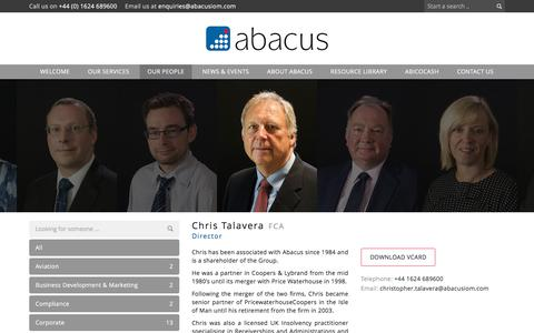 Screenshot of Team Page abacusiom.com - Our People | abacus - captured Oct. 7, 2017