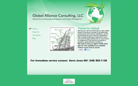 Screenshot of Home Page globalaconsulting.com - Global Alliance Consulting, LLC - Home - captured Oct. 2, 2014