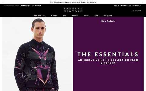 Screenshot of Home Page barneys.com - Luxury Designer Handbags, Shoes and Clothing | Barneys New York - captured Oct. 10, 2017