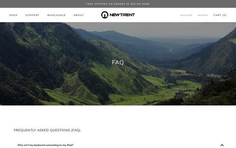 Screenshot of FAQ Page newtrent.com - Frequently Asked Questions - captured Sept. 29, 2018