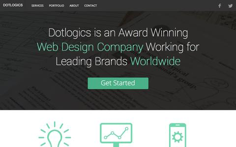 Screenshot of dotlogics.com - New York Website Design & Development Company, NYC Web Services - captured March 20, 2016