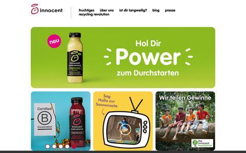 Screenshot of Home Page innocentdrinks.de - innocent – Obst zum Trinken - captured Oct. 19, 2018