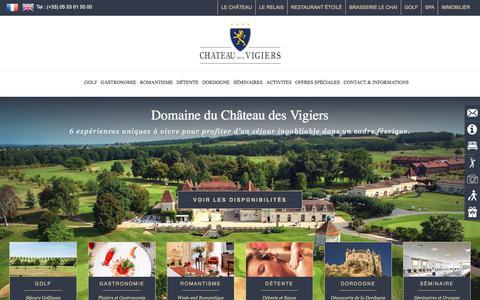 Screenshot of Home Page vigiers.com - Domaine du Château des Vigiers - captured July 20, 2017