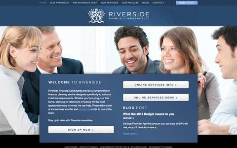Screenshot of Home Page riverside-consultants.com - Riverside Financial Consultants - captured Oct. 1, 2014