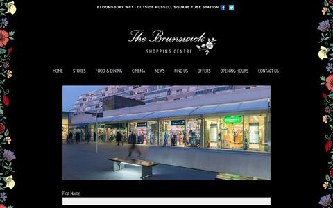 Screenshot of Signup Page brunswick.co.uk - Subscribe – THE BRUNSWICK SHOPPING CENTRE - captured Oct. 11, 2017