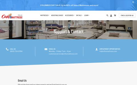 Screenshot of Contact Page orthomattress.com - Contact Us For Free Today (800) 734-6784   Ortho Mattress® - captured Oct. 19, 2018