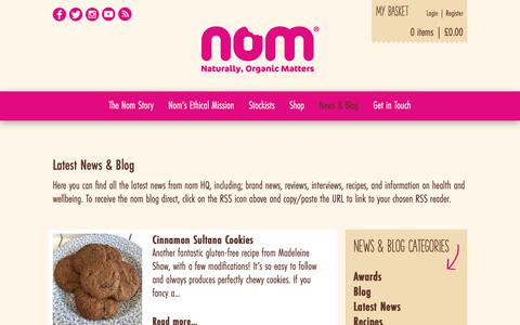 Screenshot of Press Page nomfoods.co.uk - News & Blog | Nom Foods - captured Oct. 19, 2018