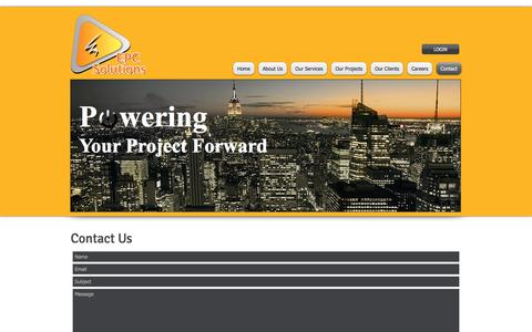 Screenshot of Contact Page epcsolutions.com.au - epc solutions, electrical contractors, project management, electrical project managers, | Contact - captured July 9, 2017
