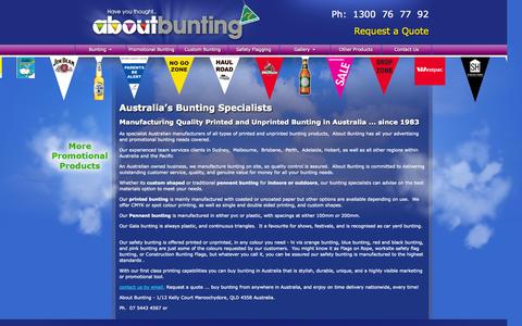 Screenshot of Home Page Terms Page aboutbunting.com.au - Buy Bunting in Australia - Bunting Manufacturer & Specialist | About Bunting - captured Sept. 30, 2014