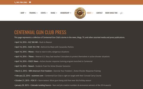 Screenshot of Press Page centennialgunclub.com - Press | Centennial Gun Club - captured May 15, 2017