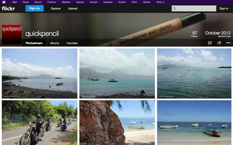 Screenshot of Flickr Page flickr.com - Flickr: quickpencil's Photostream - captured Oct. 23, 2014